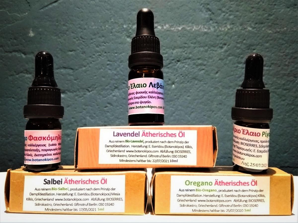 Ätherische Öle - Lavendel, Oregano, Salbei