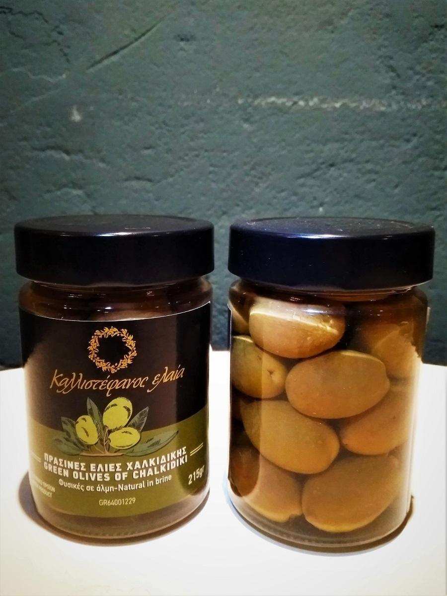 Grüne Oliven (Chalkidiki)
